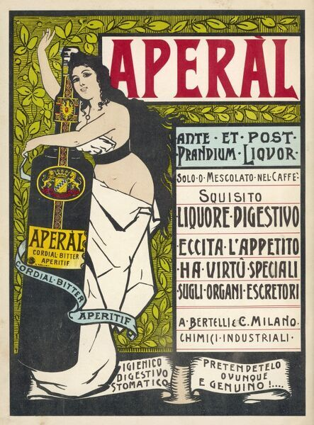 Aperal - aperitif which may be drunk on its own or mixed with your coffee ; either way it excites your appetite & benefits your excretory organs