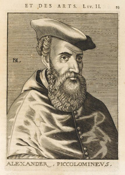 ALESSANDRO PICCOLOMINI Italian bishop and scholar, playwright and philosopher