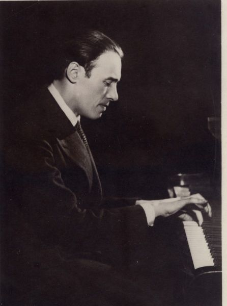 Alexander Brailowsky (1896 - 1976) Russian pianist specialized in the works of Frederic Chopin. Date