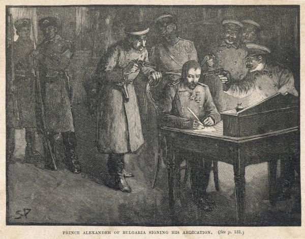 Prince Alexander and his brother Franz Joseph are abducted from the palace at Sofia to the Danube, where he is forced at gun-point to sign his abdication