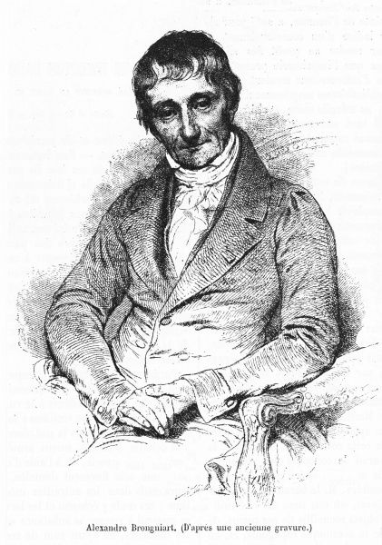ALEXANDRE BRONGNIART French scientist. (Do not confuse with his contemporary, Alexandre Theodore B, architect)