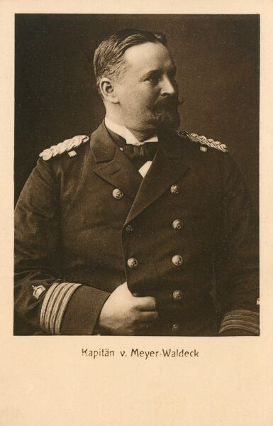 Alfred William Moritz Meyer-Waldeck (1864-1928) - a German naval officer, Vice Admiral and Governor of the 'leased territory' of Jiaozhou in Shantung province of China (Kiaochow) between 1911 and 1914