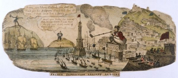 English comment on a French expedition to Algiers. Date: 1830