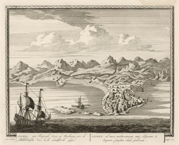 (fdormerly known as Gigeri) Harbour on the Algerian coast not far from Constantine