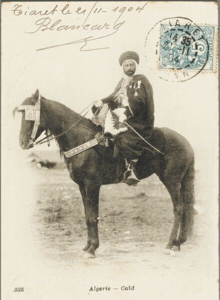 An Algerian chieftain on horseback