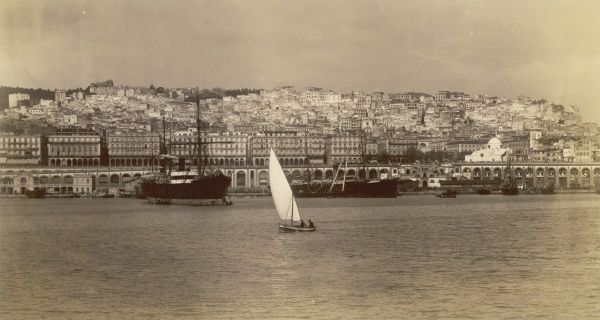 Algiers: panoramic view from the sea