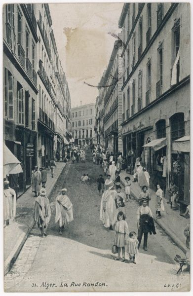 La rue Randon : my guess is that the children in the foreground are the photographer's daughters