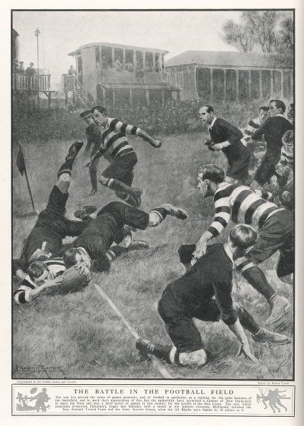 At Richmond, the Army Service Corps beat the New Zealand All Blacks by 21-3