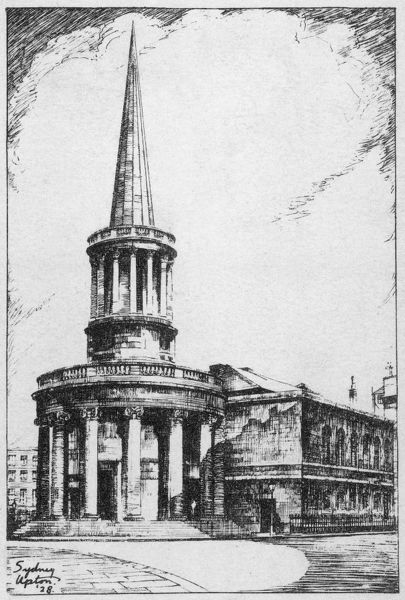 A view of All Souls Church which was designed by John Nash