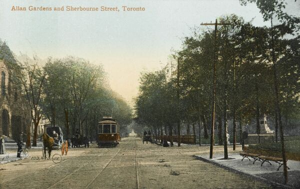 Allan Gardens and Sherbourne Street, Toronto, Canada