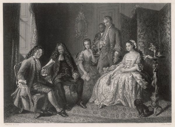ALLAN RAMSAY Scottish poet and editor, reading to the Countess of Eglinton and others