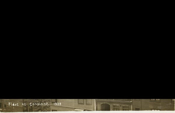 The Allied fleet at Constantinople, Turkey, right at the end of the Ottoman Empire in 1923