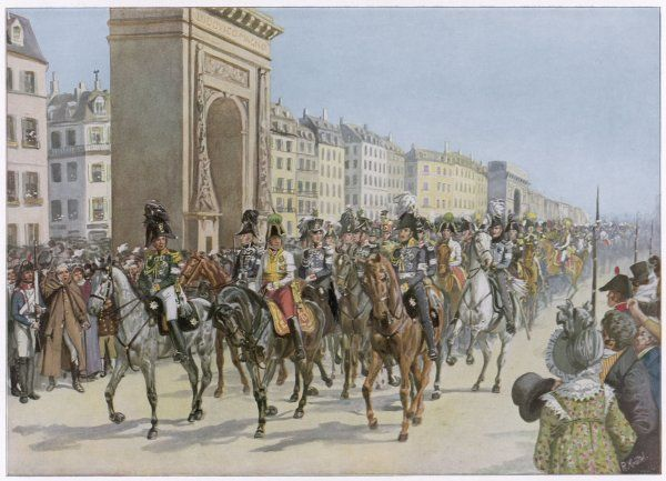 ALLIES ENTER PARIS Napoleon fails to reach Paris in time to forestall the surrender of the city by the desperately under-manned defending forces Date: 31 March 1814