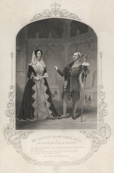 Act I, Scene III Mrs. Ternan & Mr. Lewis Ball, as the Countess Rosalind & her clown