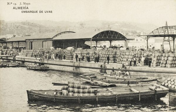 Almeria, Spain - Embarkation of Eggs in barrels for export