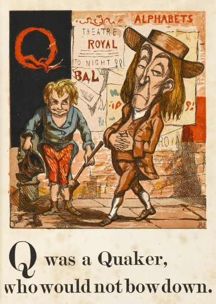A satirical view of the superior air of a quaker in a city street