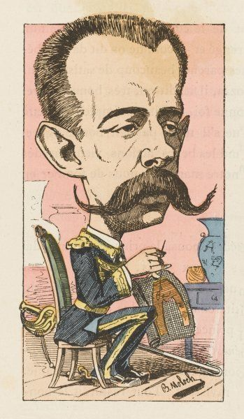 AMADEO, KING OF SPAIN Elected 1870, abdicated 1873: a satirical view