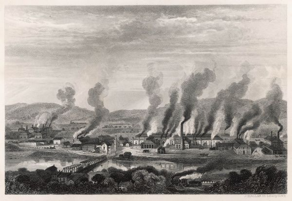 The Cumbria Iron and Steel Works at Johnstown, proudly pollutes the Pennsylvanian skies