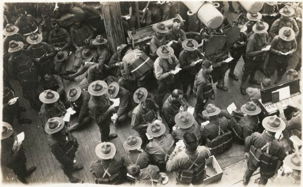 American soldiers, off to Vera Cruz, Mexico