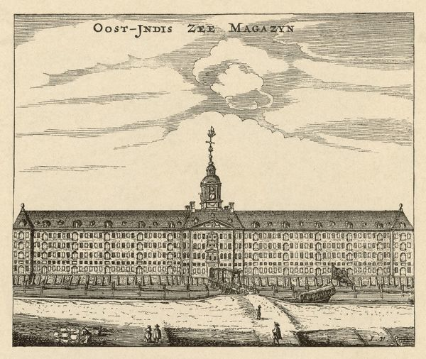 The East India Company's warehouse in Amsterdam