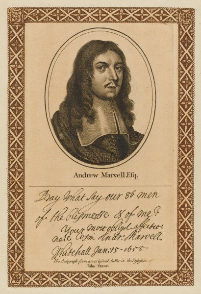 ANDREW MARVELL writer with his autograph