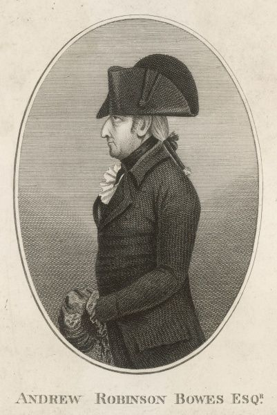ANDREW ROBINSON STONEY BOWES Adventurer who married the Countess of Strathmore : portrait done in 1799