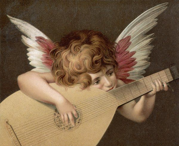 'PUTO CHE SUONA LA GUITARRA' - a young angel plays the guitar