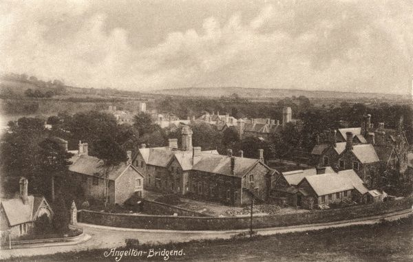 A view of the Angleton lunatic asylum at Penyfai, Bridgend, Glamorganshire, also known as the Glamorgan County Mental Hospital and later Glanrhyd Hospital