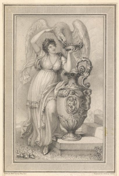 ANNA MARIA STANHOPE duchess of BEDFORD, wife of Francis, 7th duke : depicted as the goddess Hebe