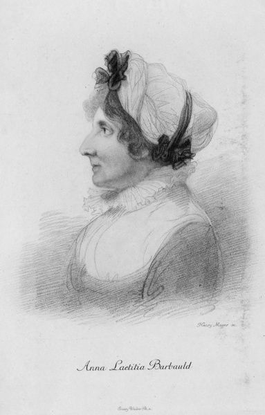 ANNA LETITIA BARBAULD English author and notable educationalist