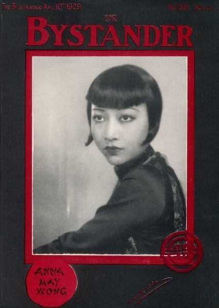 ANNA MAY WONG Chinese American actress, pictured on a suitably Orientally designed cover of The Bystander magazine, 1929