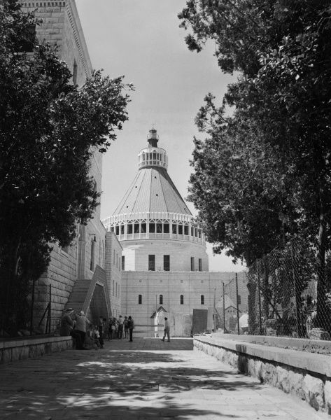 The Church of the Annunciation, Nazareth, Israel. Date: 1960s