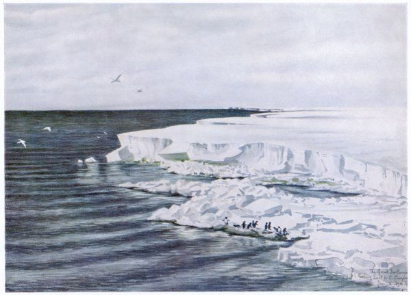 Antarctic: the Great Ice Barrier, looking east from Cape Crozier