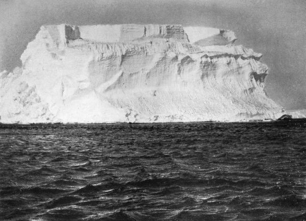 'A tabular berg of typical Antarctic form' photographed from Shackleton's ship 'Nimrod'. Date: circa 1907
