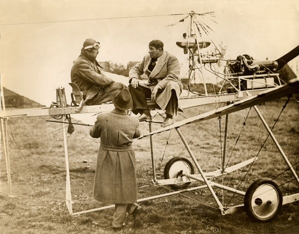 Anthony Fokker astride an early aircraft type, 1930s Date: 1930
