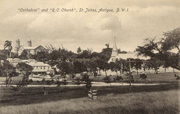 Antigua - St John's Cathedral and Roman Catholic Church Date: circa 1910s
