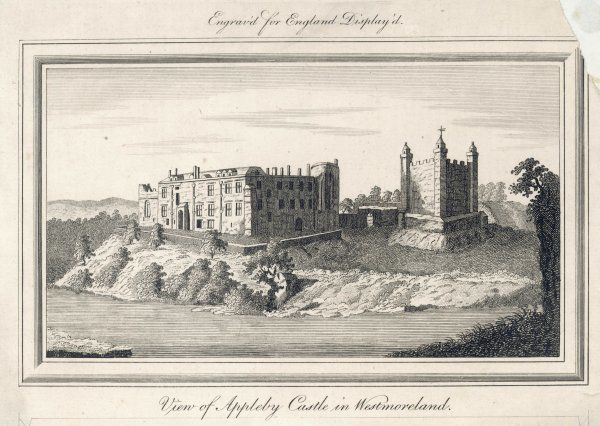 Appleby Castle, Westmoreland (now Cumbria) : the keep, seen on the right, dates from the 12th century