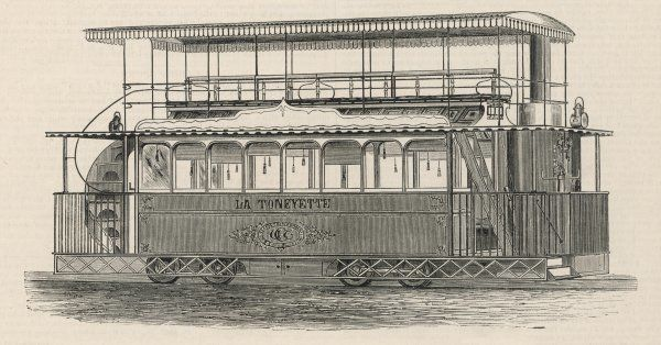 Apsey's steam tram, operating at West Ham, London