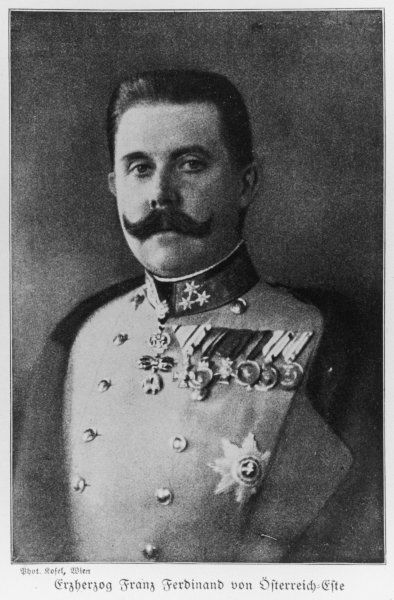ARCHDUKE FRANZ FERDINAND Heir to the Austrian empire, son of Archduke Karl Ludwig, assassinated in 1914