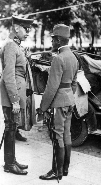 "Archduke Josef Ferdinand of Austria (1872-1942), military commander (right), and General Johannes Friedrich ""Hans"" von Seeckt (1866-1936), German army officer during the First World War. Date: 1914-1918"
