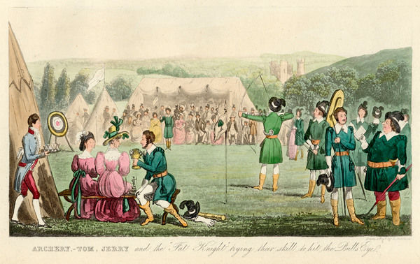 An archery match, for which the competitors dress like Robin Hood and his Merry Men