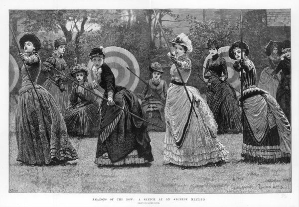 Ladies at an archery meeting