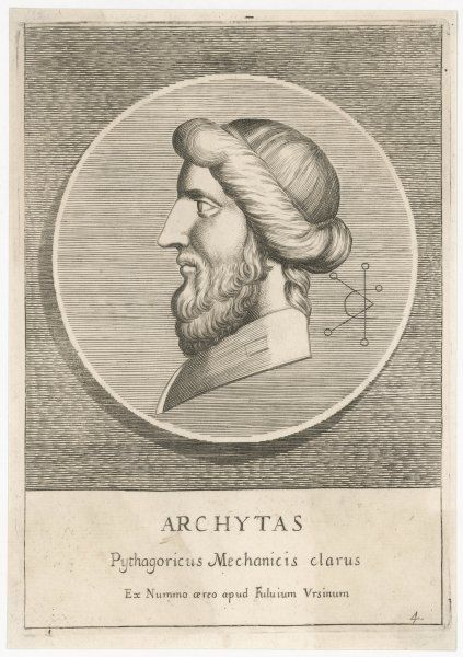 ARCHYTAS OF TARENTUM Greek philosopher, scientist and soldier, follower of Pythagoras