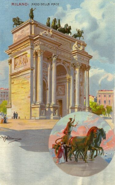 Arco della Pace ('Arch of Peace') - Milan - Italy Date: circa 1910s