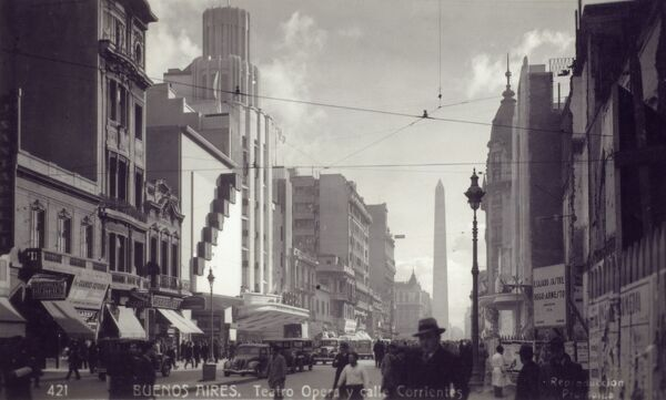 Argentina - Buenos Aires, Opera Theatre on Calle Corrientes ('Currents Street') Date: 1937