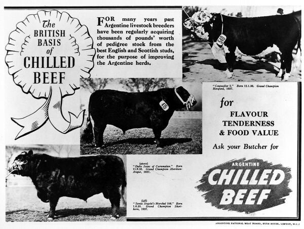 Advertisement by the Argentine Meat Board