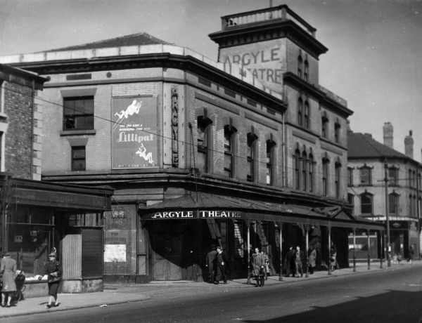 in Birkenhead, Cheshire. Reported to be the oldest variety theatre in Britain. Date: 1940s