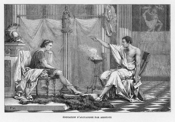 ARISTOTLE Greek philosopher; tutoring Alexander the Great