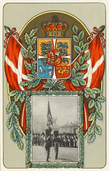 The coats of arms and flags of Denmark. Date: 1936