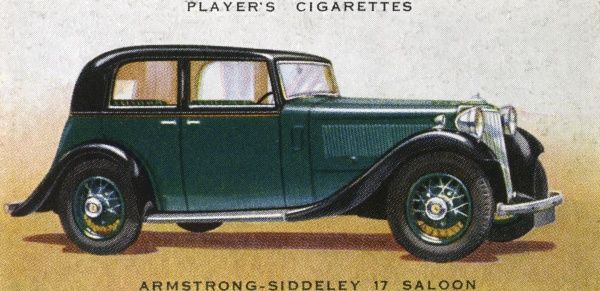 Armstrong-Siddeley 17 saloon, a middle-size family car. Date: 1936